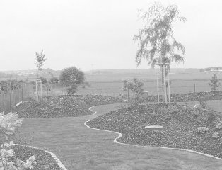 rodinná zahrada ve Zdiměřicích
